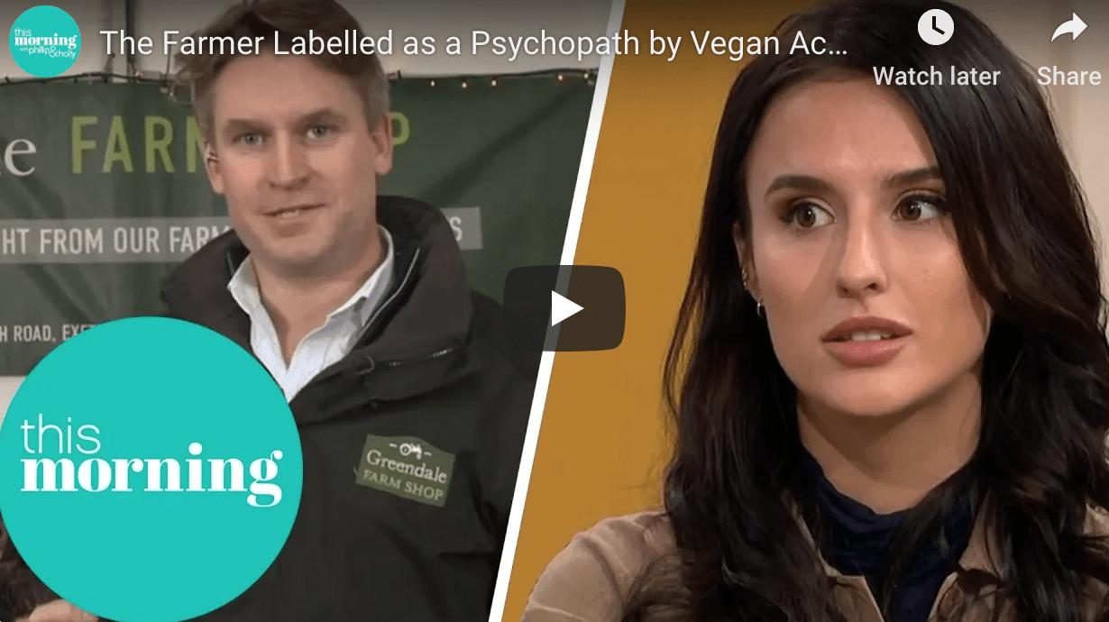 Vegan activist questions turkey farmer over Christmas campaign
